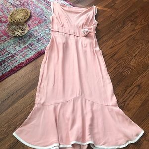 Stop staring pink and white ruffle vintage dress